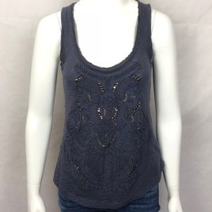 Anthropologie Deletta Embroidered Tank Top